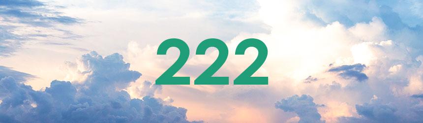 nombre 222 signification et symbolique